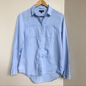 Topshop Chambray Button Down Top